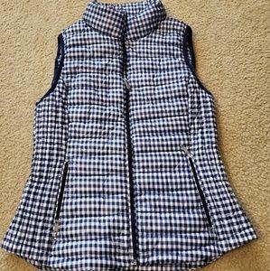 TOMMY HILFIGER Navy Gingham Packable Puffer Vest